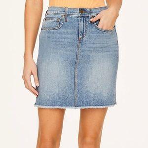 NWT Loft Raw Edge Denim Skirt